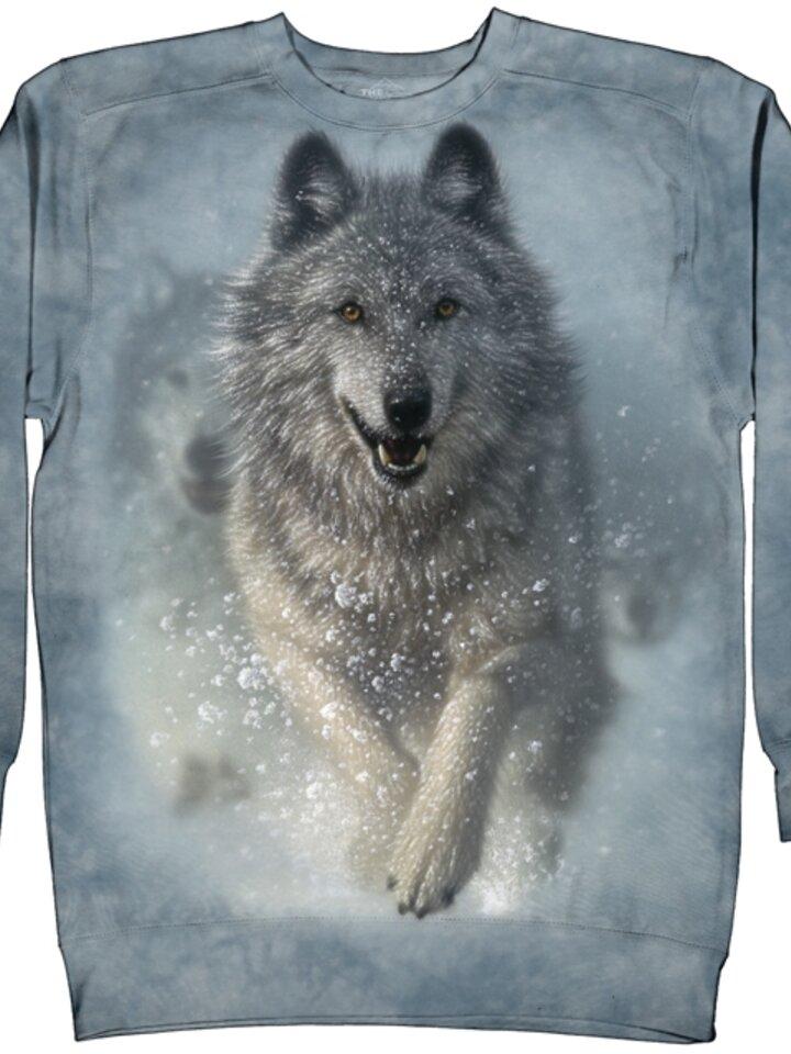 Hľadáte originálny a nezvyčajný darček? Obdarovaného zaručene prekvapí Mikina bez kapucne Snežný vlk