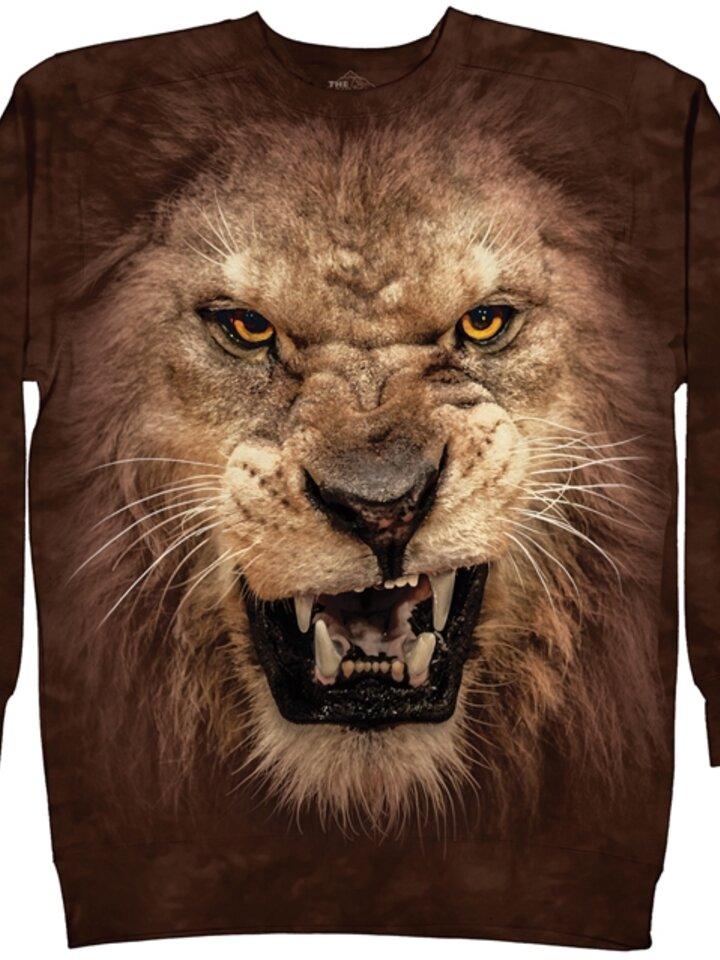 Rabatt Sweatshirt ohne Kapuze Wütender Löwe