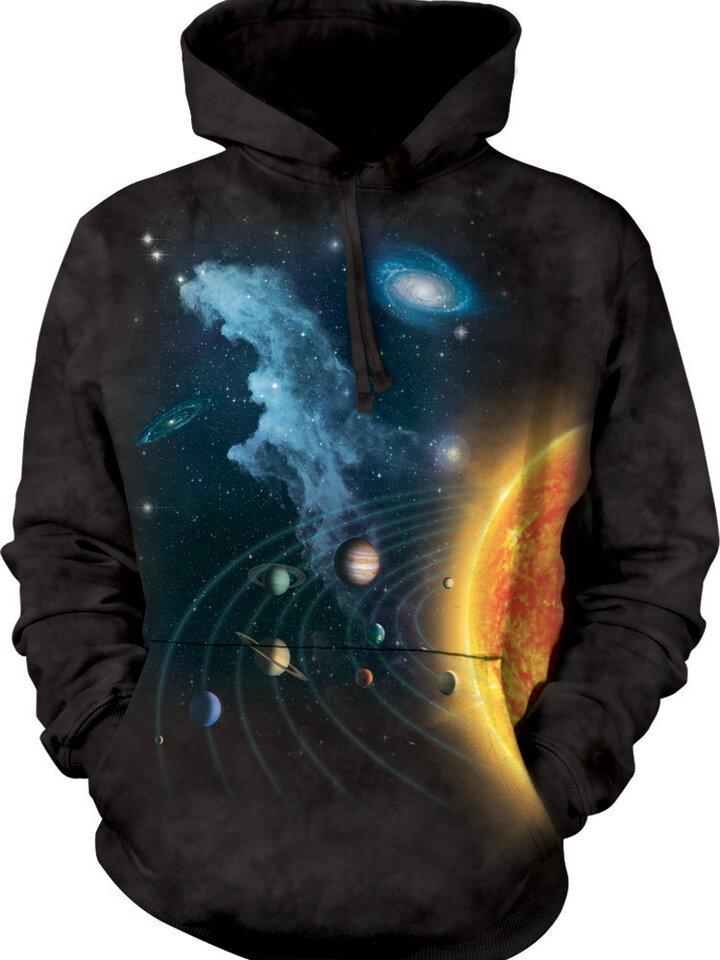 Geschenktipp Sweatshirt mit Kapuze Sonnensystem