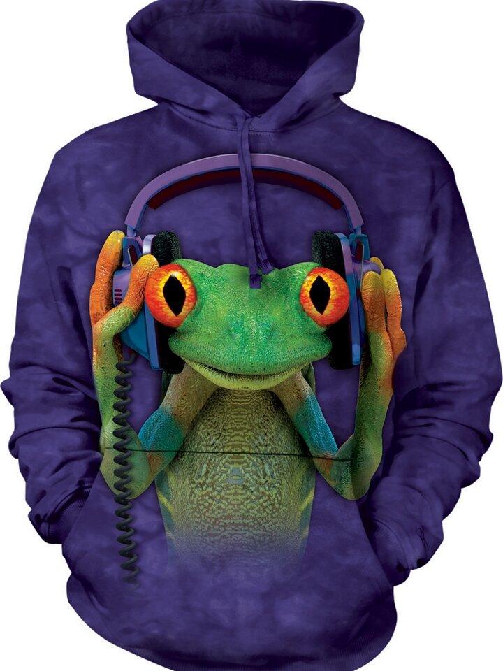 Výpredaj Mikina s kapucňou DJ žaba