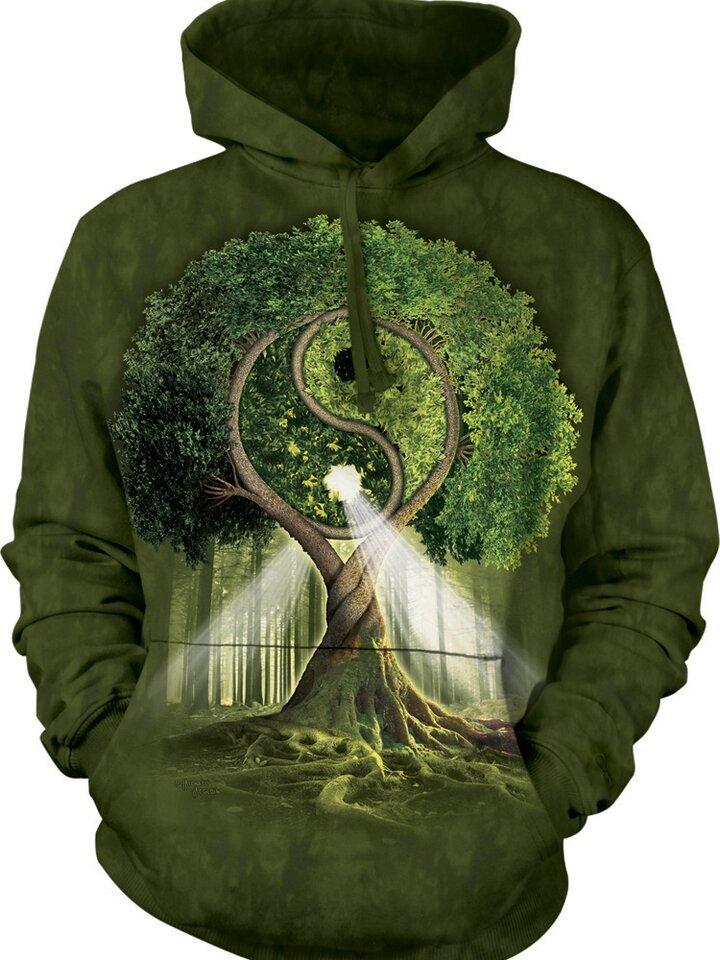 Szerezzen magának örömet ezzel a Dedoles darabbal Kapucnis pulóver Jin-jang fa