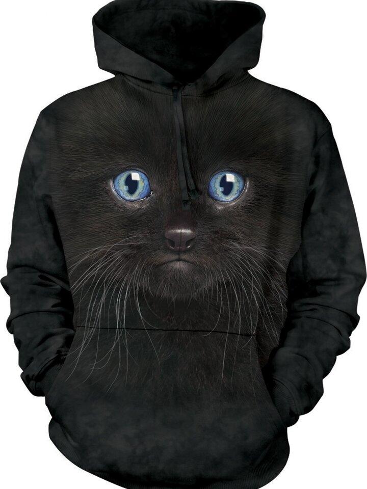 für ein vollkommenes und originelles Outfit Sweatshirt mit Kapuze Schwarze Katze
