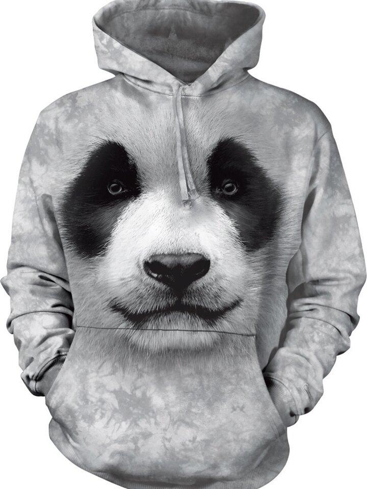 Foto Hanorac cu glugă Panda 3D