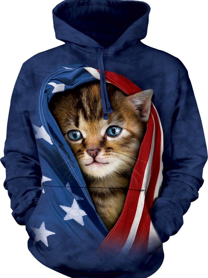 Bereiten Sie sich Freude mit diesem Dedoles-Stück Patriotic Kitten Hoodie