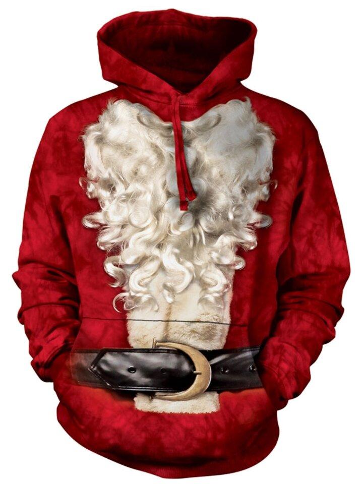 Geschenk von Dedoles Sweatshirt mit Kapuze Bart von Santa