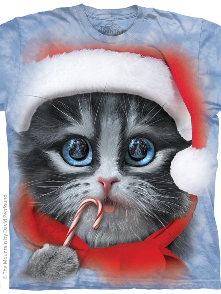 Výpredaj Tričko Vianočné mačiatko - detské