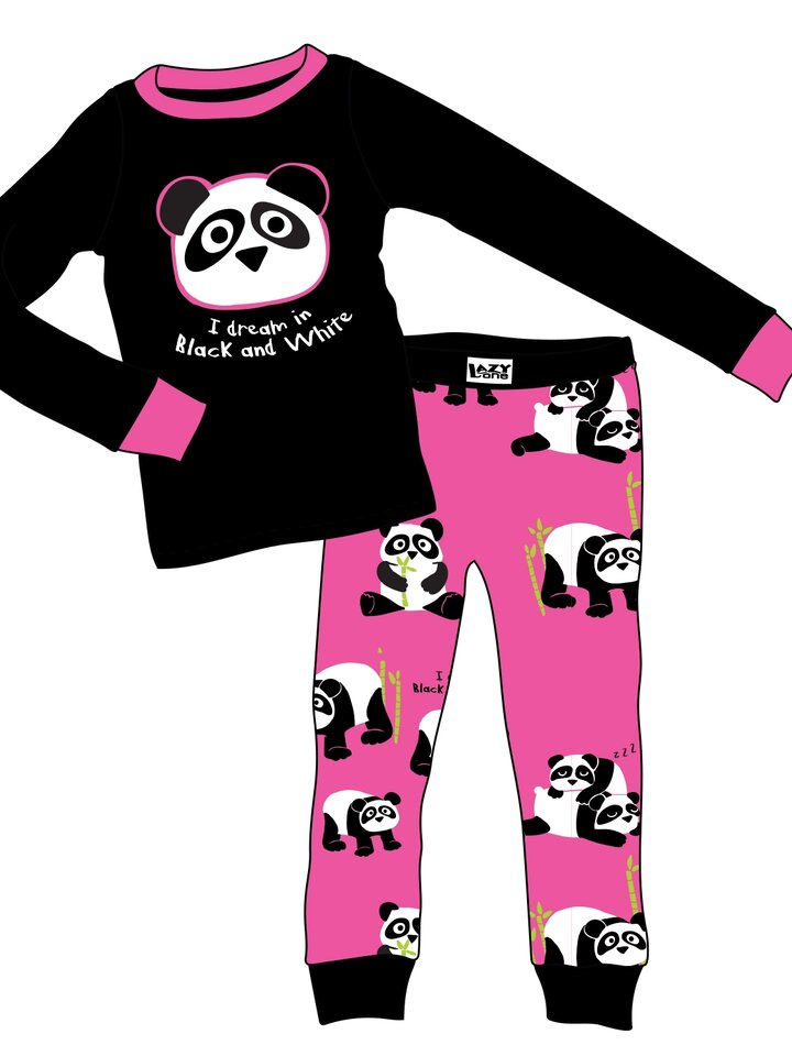 Tip na dárek Dětské Dvoudílné Pyžamo Panda Sním Černobíle