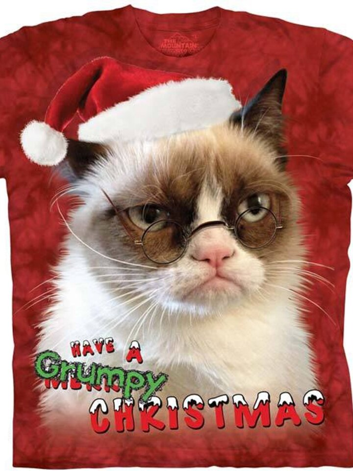pentru outfit-ul perfect Holiday Grumpy Cat with text