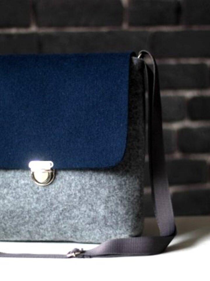 Tip na darček Kabelka cez rameno Clip - Modro-šedá