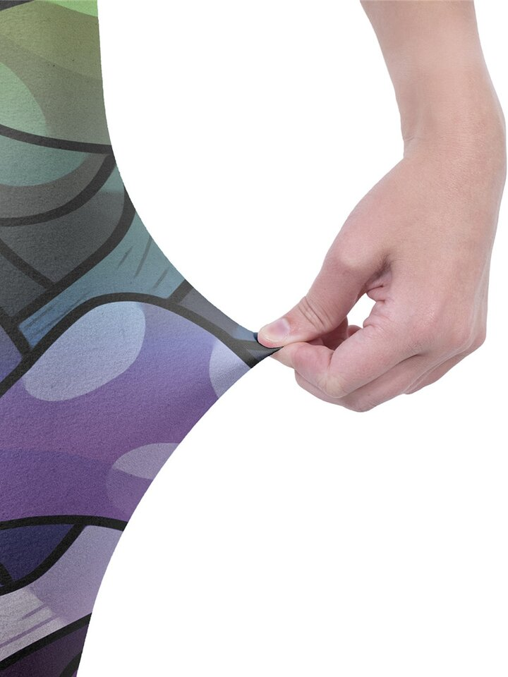 Tip na darček Dámske elastické legíny Farebné huby