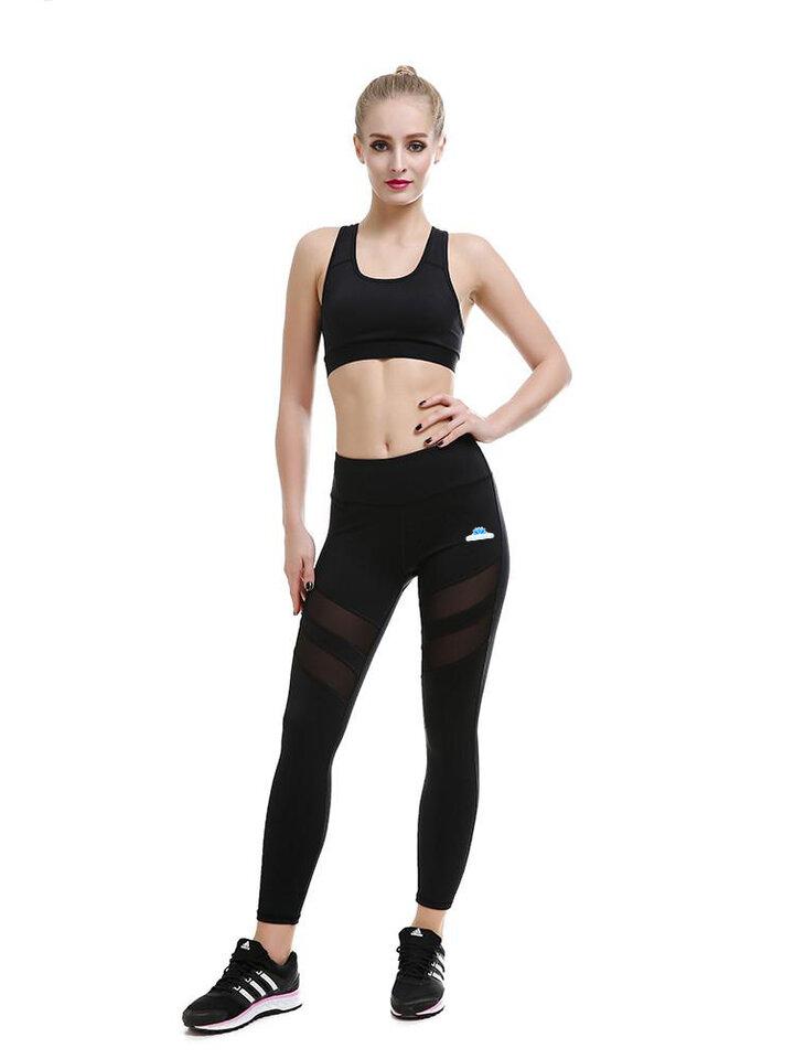 Výpredaj Ženske mrežaste športne pajkice - črne