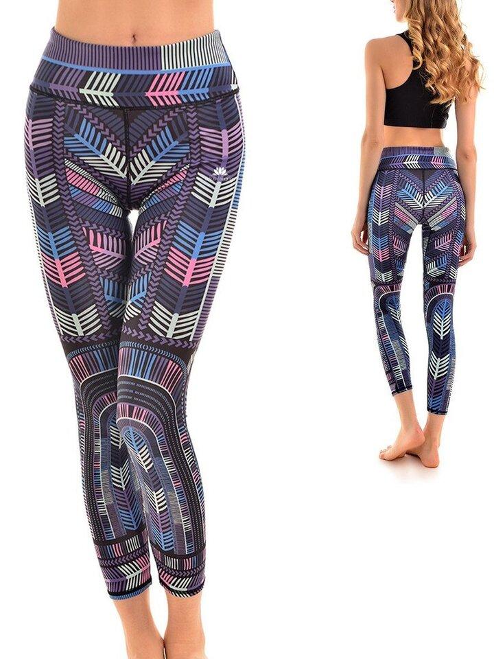 Pre dokonalý a originálny outfit Ženske športne elastične pajkice Color Run