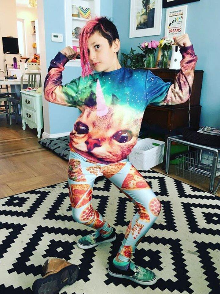 ZNIŻKA Kids' Sweatshirt Cat Unicorn