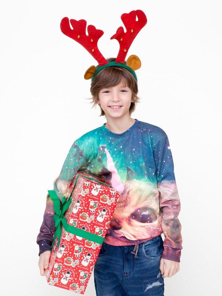 Pre dokonalý a originálny outfit Kids' Sweatshirt Cat Unicorn