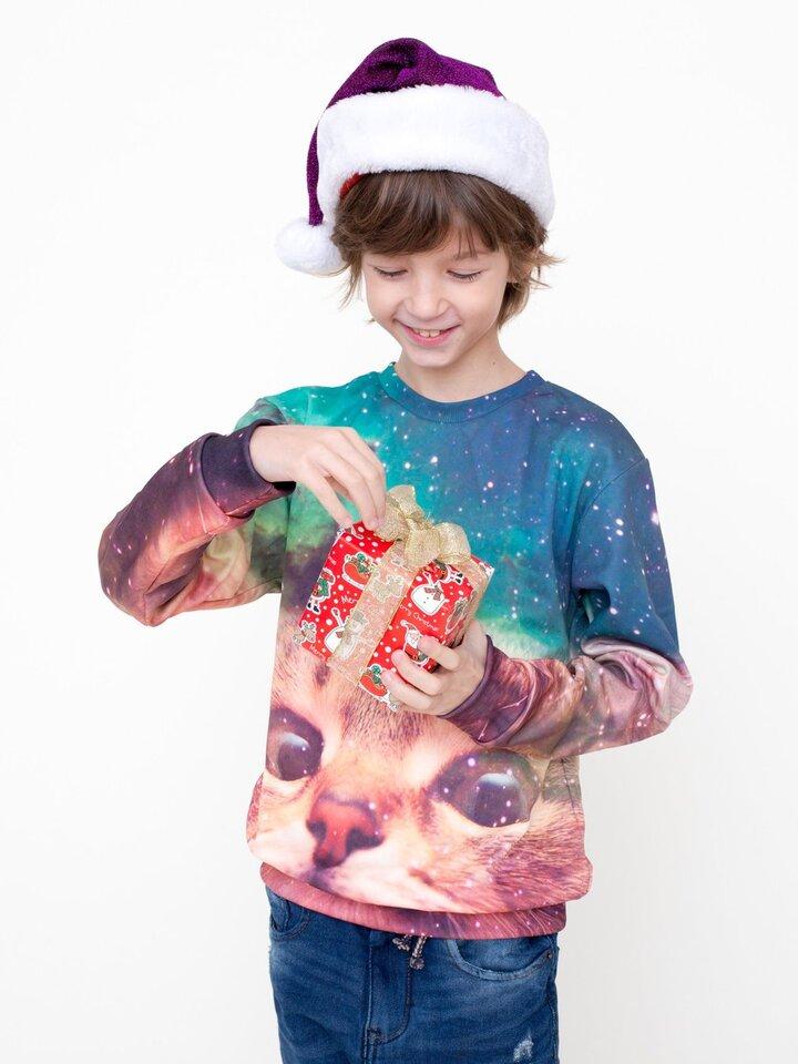 Zdjęcie lifestyle Kids' Sweatshirt Cat Unicorn
