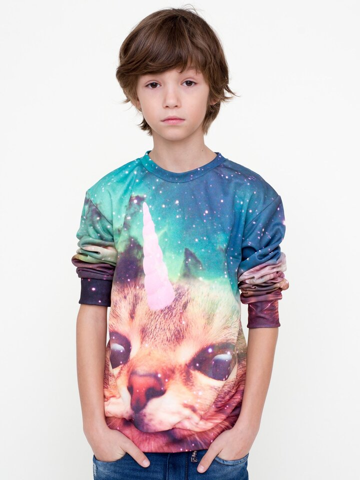 Dedoles oryginalny prezent Kids' Sweatshirt Cat Unicorn