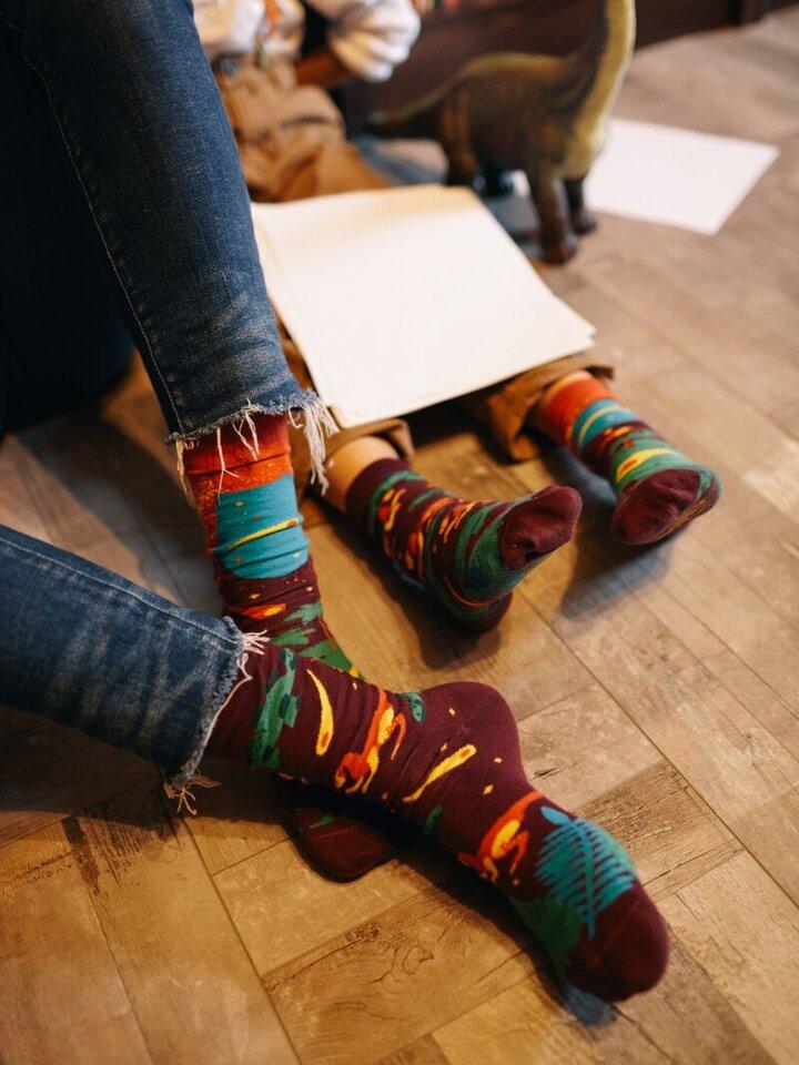 Výnimočný darček od Dedoles Detské Ponožky Many Mornings Dinosaury