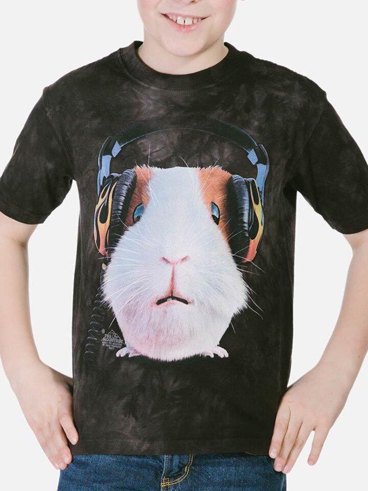 Sale Children T-shirt with Short Sleeve DJ Guinea Pig