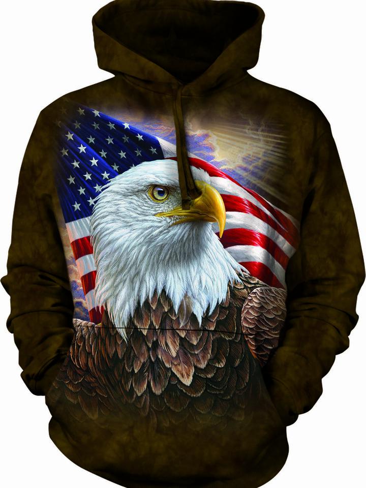 Výnimočný darček od Dedoles Mikina s kapucňou Profil amerického orla