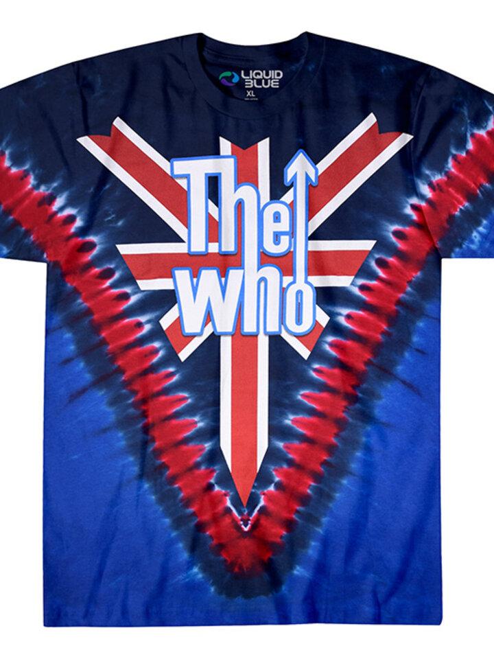 Hledáte originální a neobvyklý dárek? Obdarovaného zaručeně překvapí Modré batikované hudební tričko The Who Long live rock