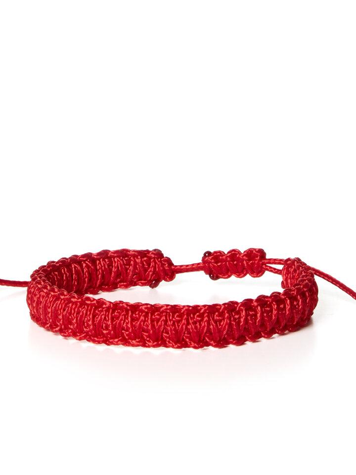 für ein vollkommenes und originelles Outfit Microcord Armband King Cobra rot