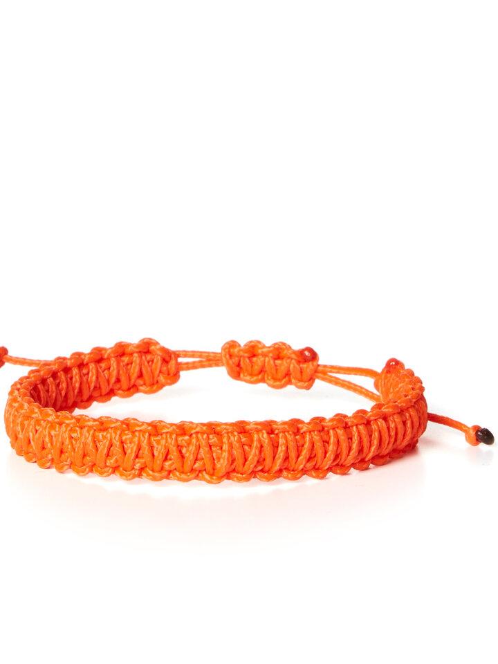 Zdjęcie lifestyle Bransoletka Mikrokord Kobra królewska pomarańczowa