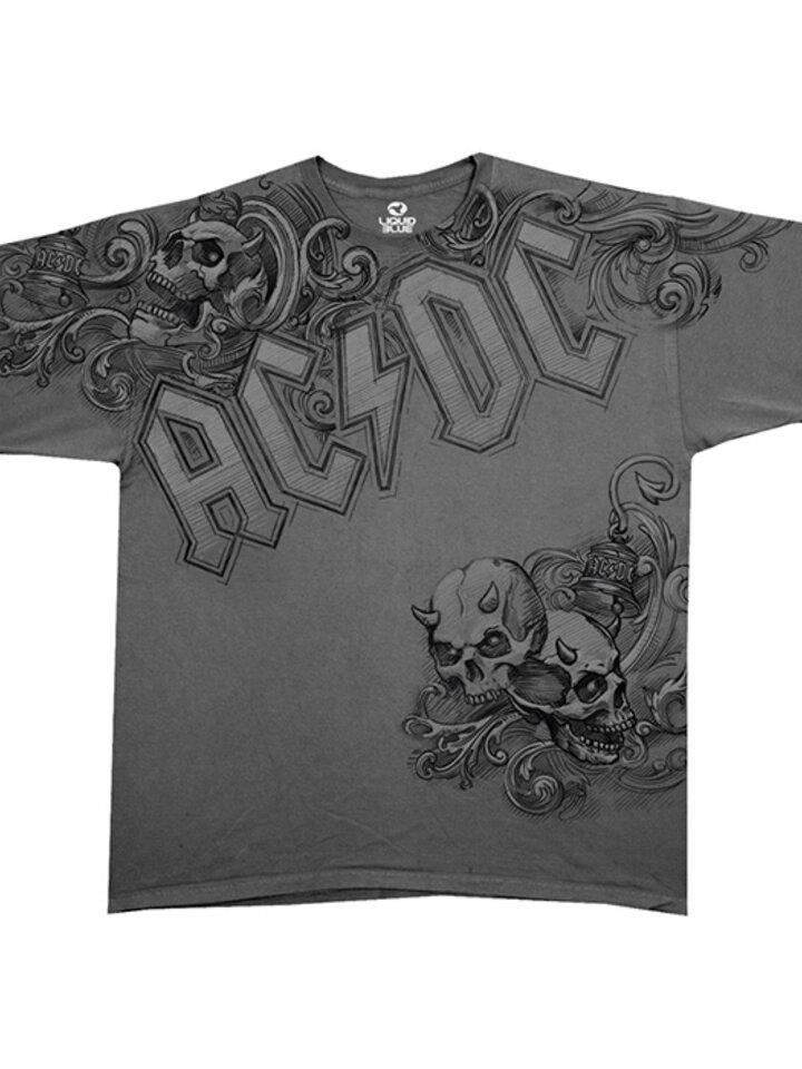 Original gift Grey Music Sport T-shirt AC/DC Prowler