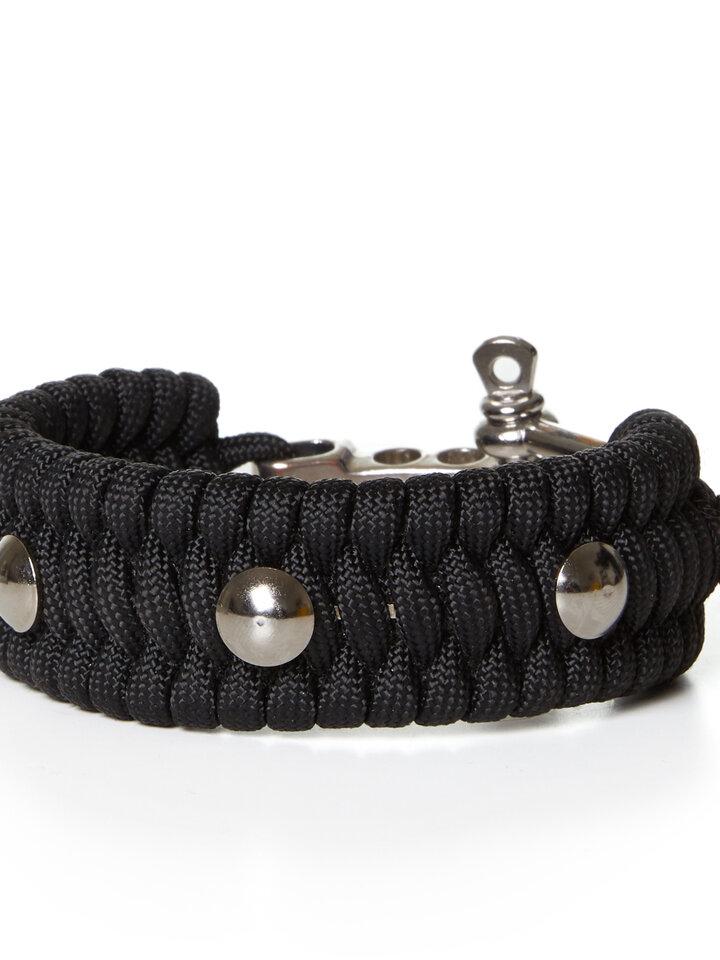 Ausverkauf Paracord Survival Armband Schildkröte schwarz mit einstellbarem Verschluss
