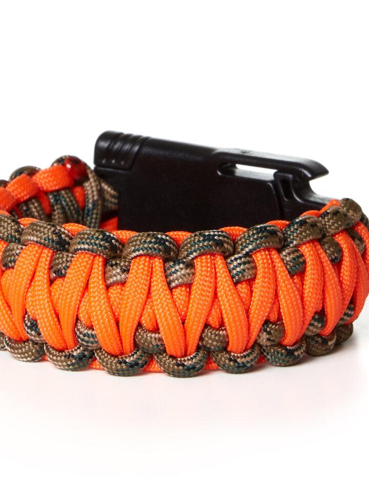 Geschenk von Dedoles Paracors Survival Armband Warn Jagd mit Messer, Kompass, Pfeife und Feuerschläger