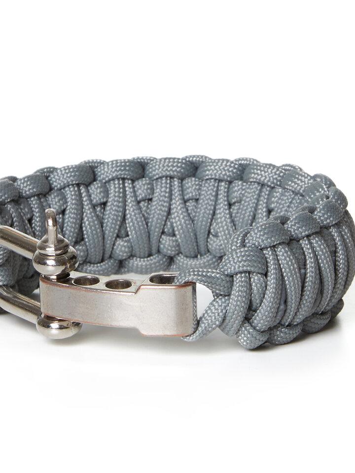 Suchen Sie ein originelles und außergewöhliches Geschenk? überrascht den Beschenkten sicher Paraflex Survival Armband King Cobra Reflex grau mit einstellbarem Verschluss