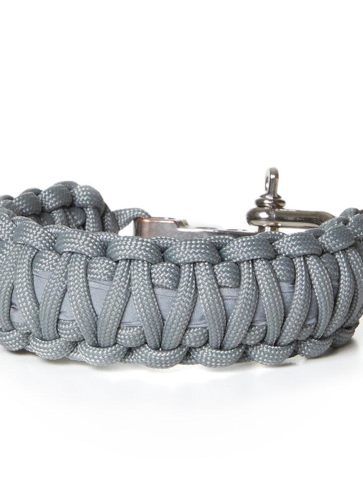 Foto Paraflex Survival Armband King Cobra Reflex grau mit einstellbarem Verschluss