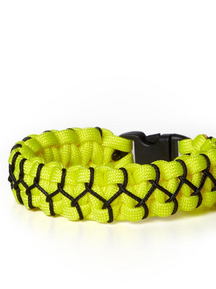 Suchen Sie ein originelles und außergewöhliches Geschenk? überrascht den Beschenkten sicher Paramicord Survival Armband Kobra X gelb-schwarz