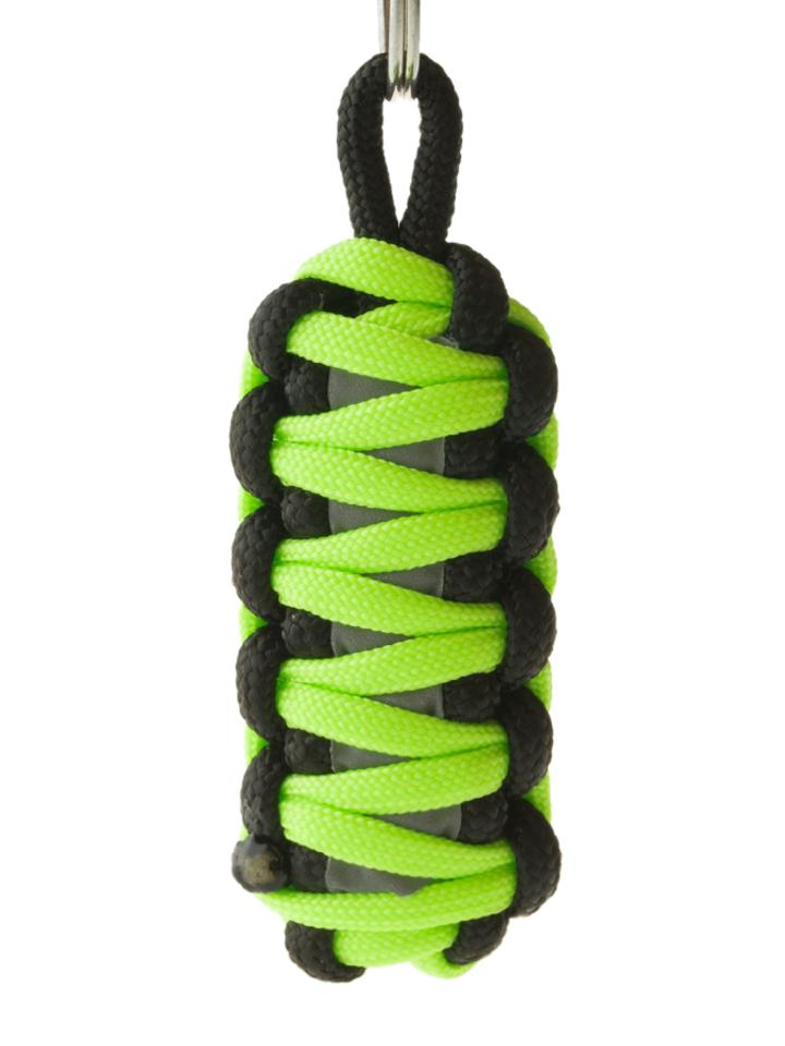 Foto King Cobra Reflektierender Paracord Schlüsselanhänger - grün