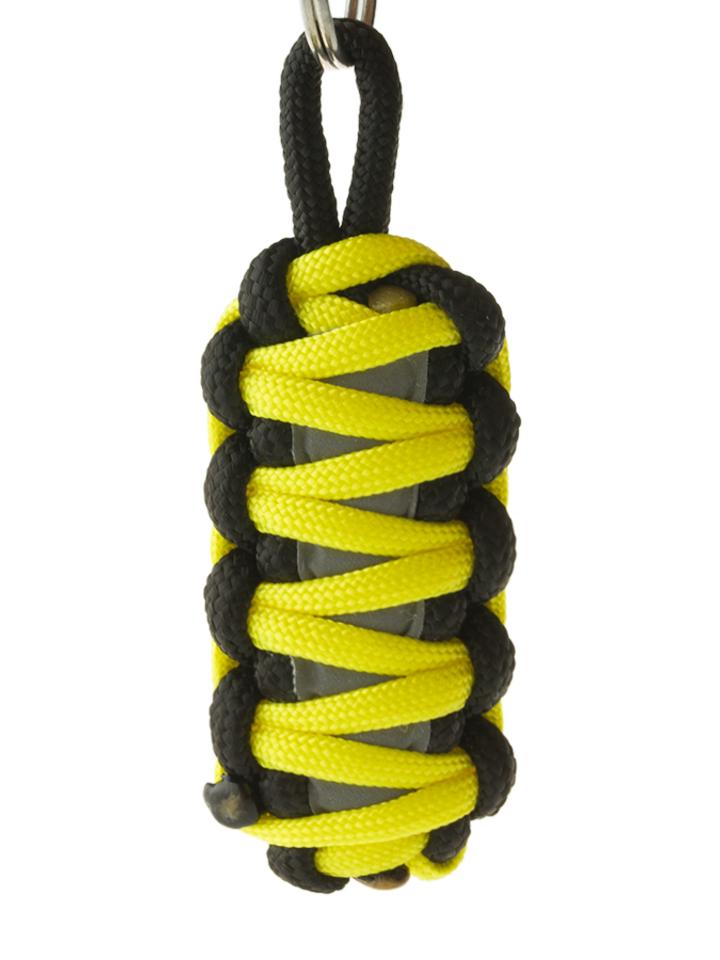 Ajándék tipp Fényvisszaverő Paracord túlélési kulcstartó King Cobra - sárga