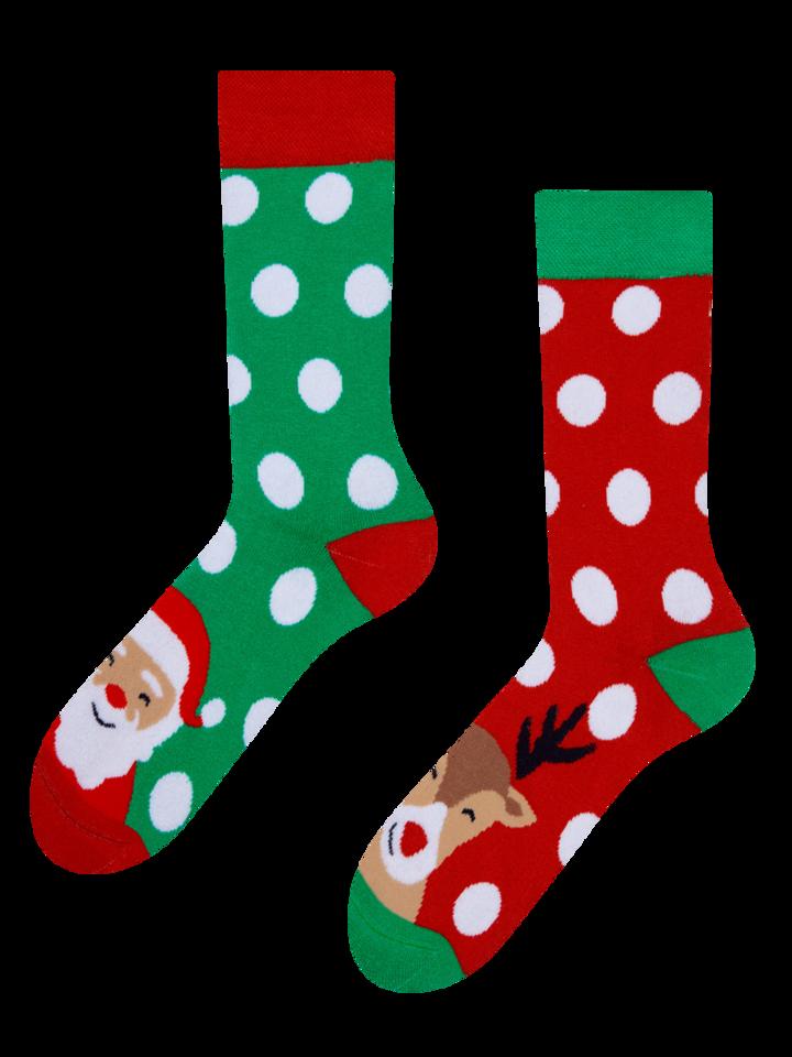 ОТСТЪПКА Весели топли чорапи Санта и Рудолф