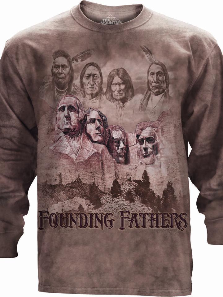 Lifestyle-Foto T-Shirt mit langen Ärmeln Gründerväter der Vereinigten Staaten
