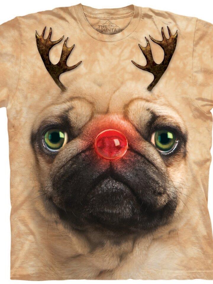 Original gift Pug Reindeer Adult