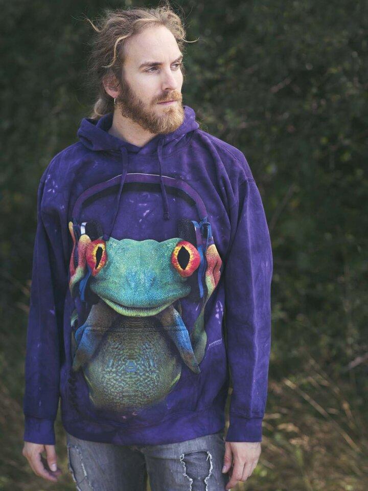 Obrázok produktu Mikina s kapucňou DJ žaba