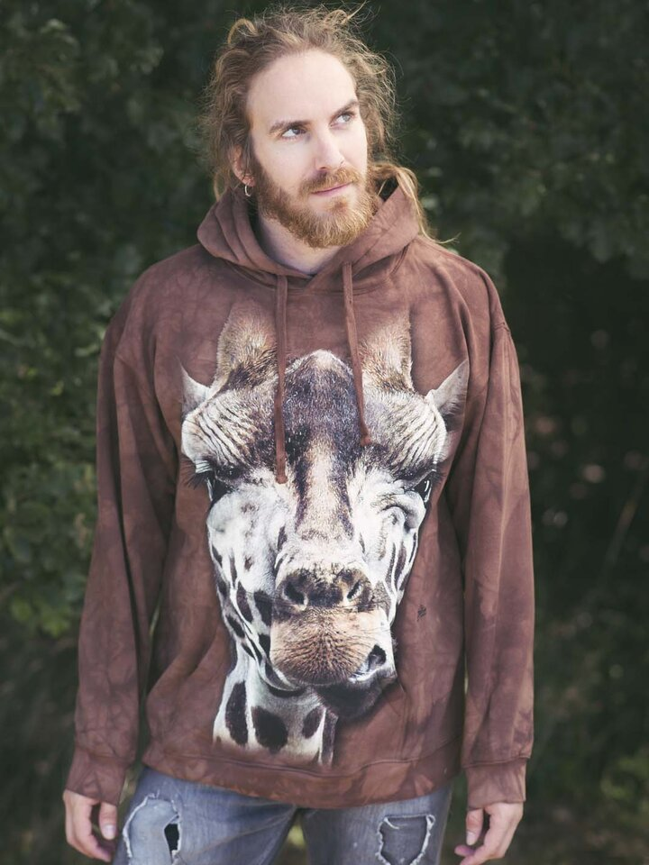 Foto Mikina Žirafa s kapucí