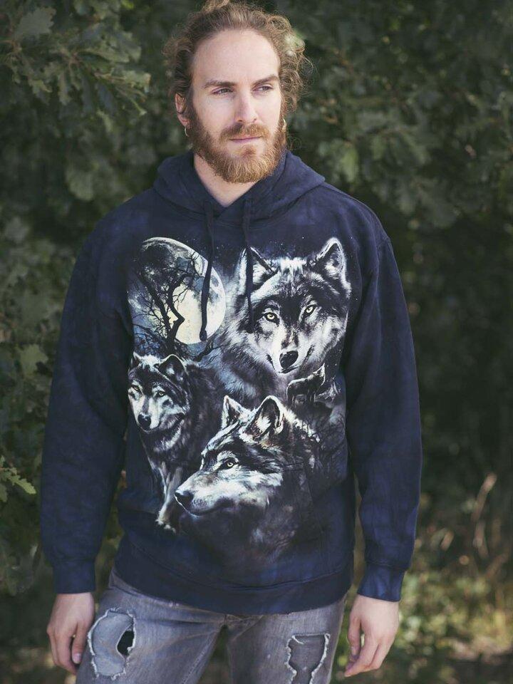 Kiárusítás Kapucnis pulóver Farkas falka