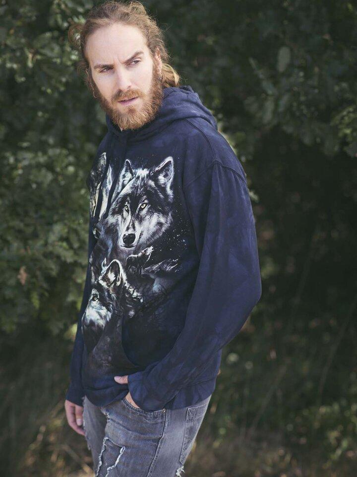 Kedvezmény Kapucnis pulóver Farkas falka