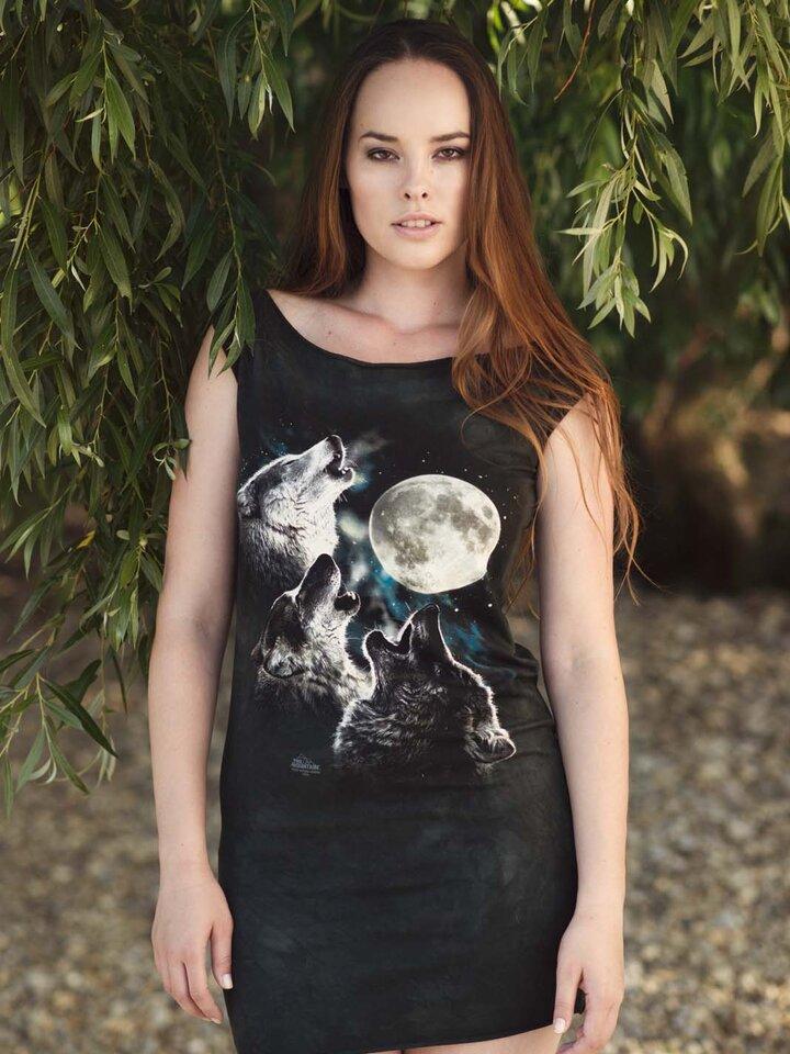 Výjimečný dárek od Dedoles Minišaty Tří vlci vyjící na měsíc