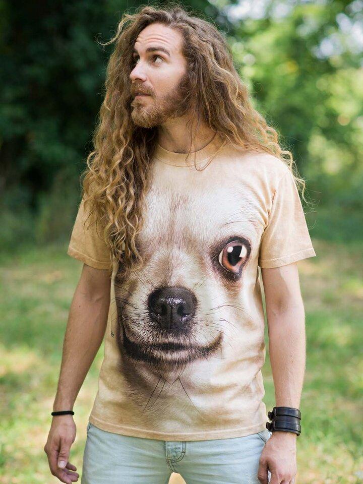 für ein vollkommenes und originelles Outfit T-Shirt Chihuahua Gesicht