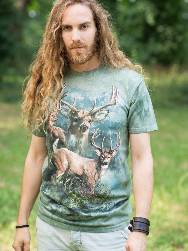 Pre dokonalý a originálny outfit Tričko Koláž z jeleňov