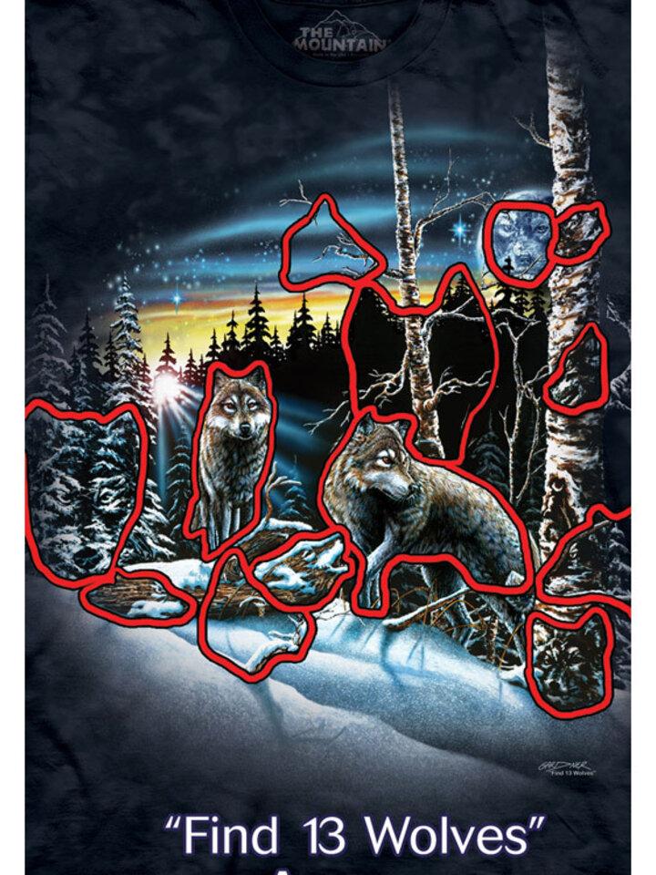 für ein vollkommenes und originelles Outfit T-Shirt Finde 13 Wölfe