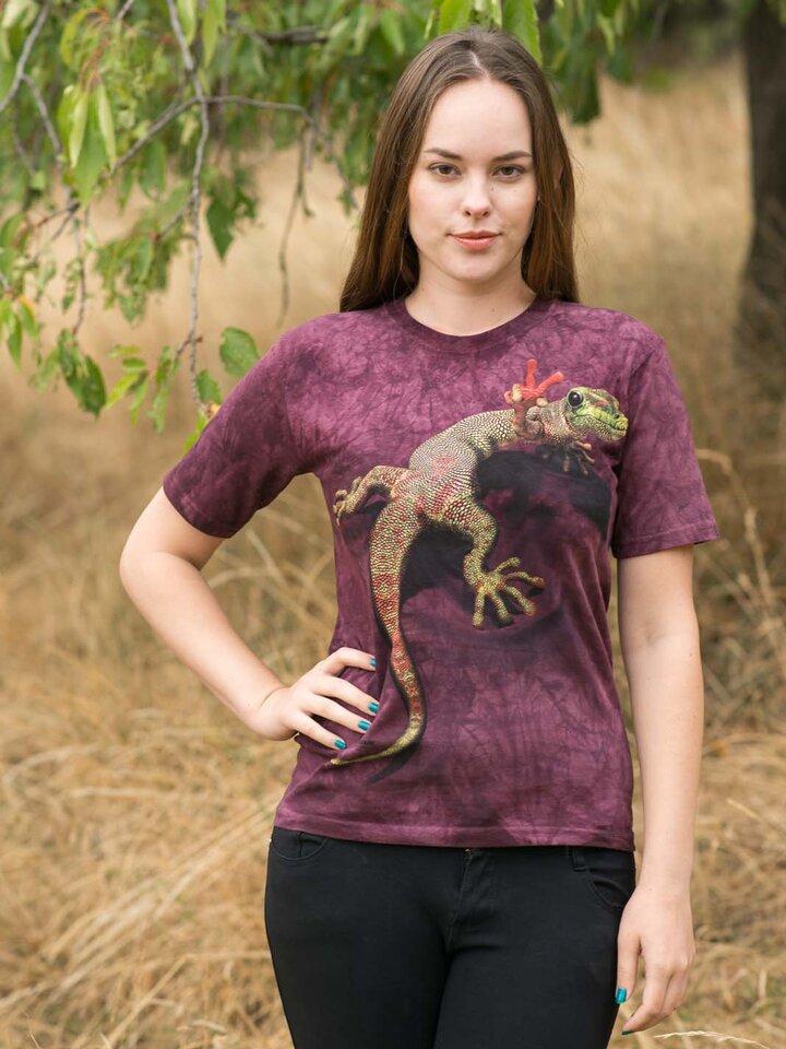 Suchen Sie ein originelles und außergewöhliches Geschenk? überrascht den Beschenkten sicher T-Shirt Eidechschen Lizzy