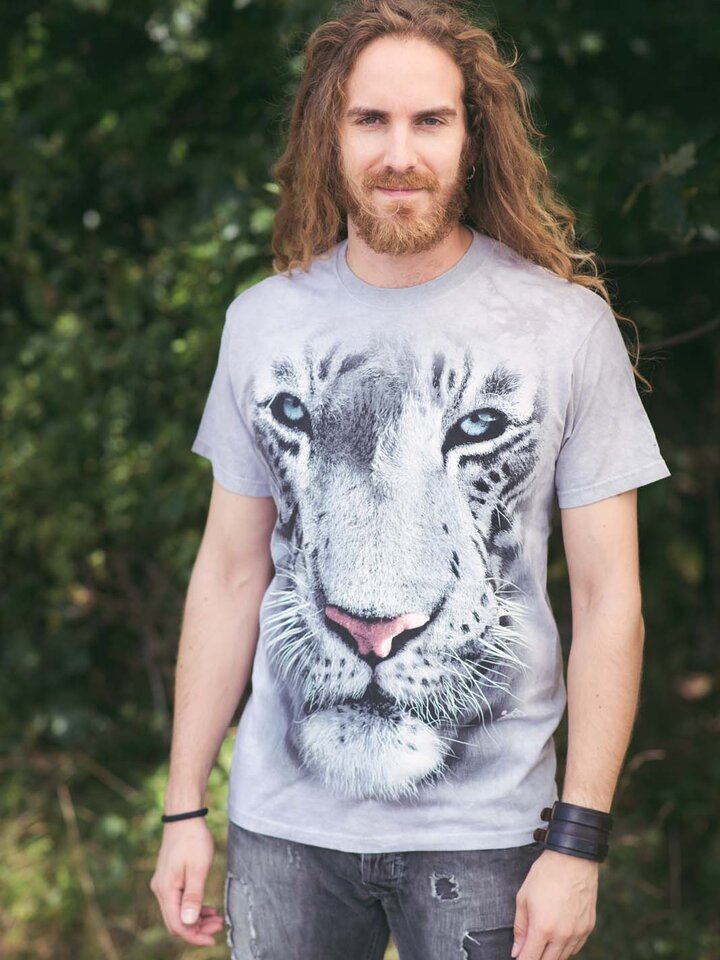 pro dokonalý a originální outfit Tričko Bílý tygr