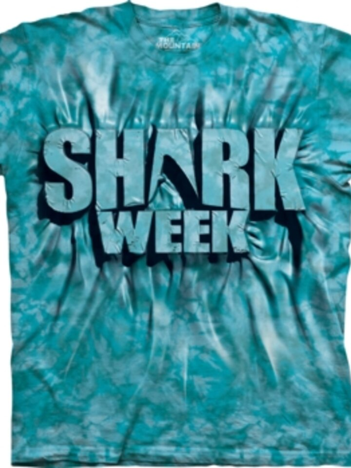 Sale Aqua Shark Week T Shirt