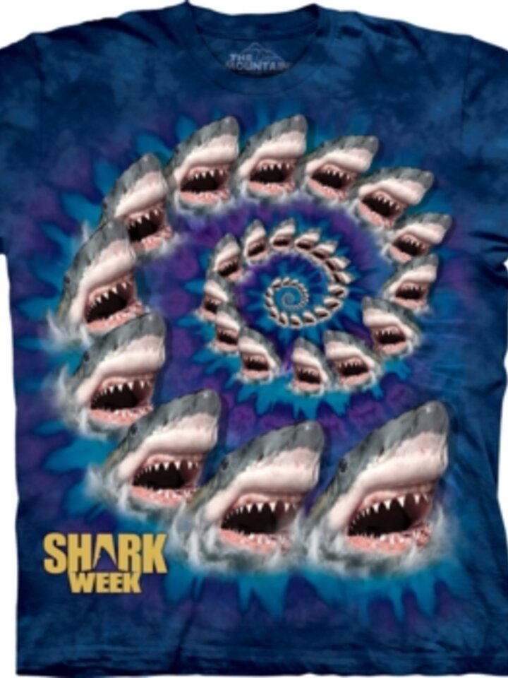 Pre dokonalý a originálny outfit Spiral Shark T Shirt