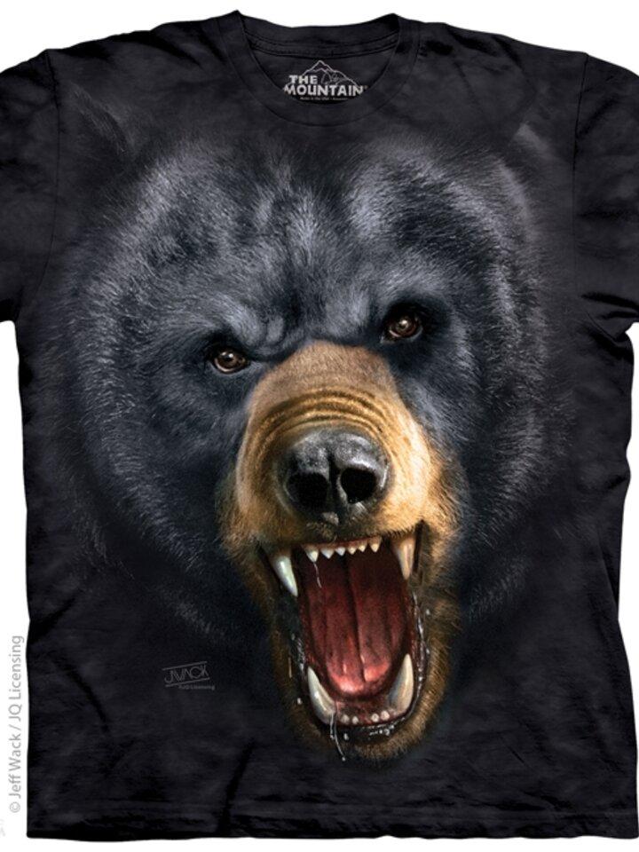 pro dokonalý a originální outfit Tričko Agresivní černý medvěd